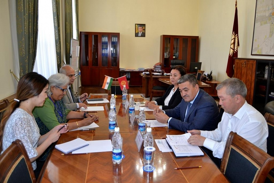 The Mayor of Bishkek met with the Ambassador Extraordinary and Plenipotentiary of India to the Republic of Kyrgyzstan